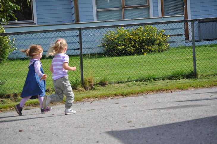 Løpende barn