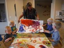 Kunstner på besøk på Oppistun