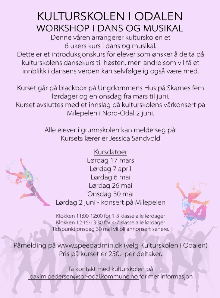 Plakat dansekurs