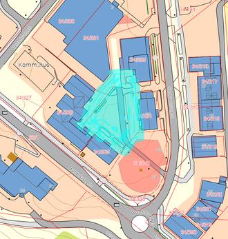 Kart over området Samling