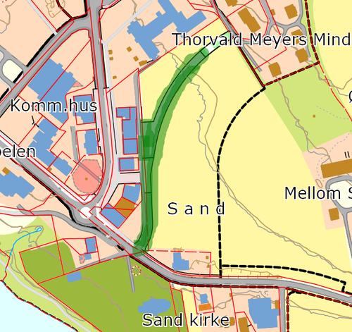 Kart Sandsjordet