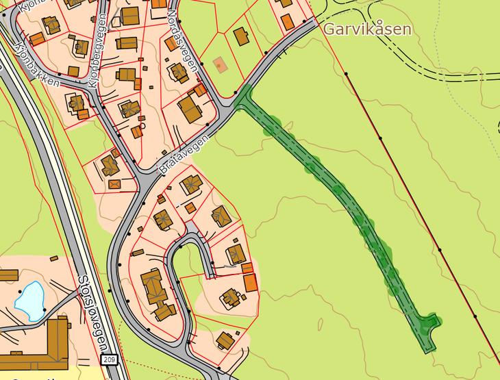 Kart Garvikåsen