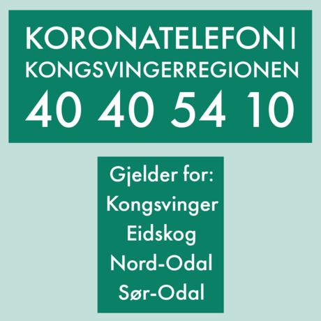 Plakat Koronatelefonen