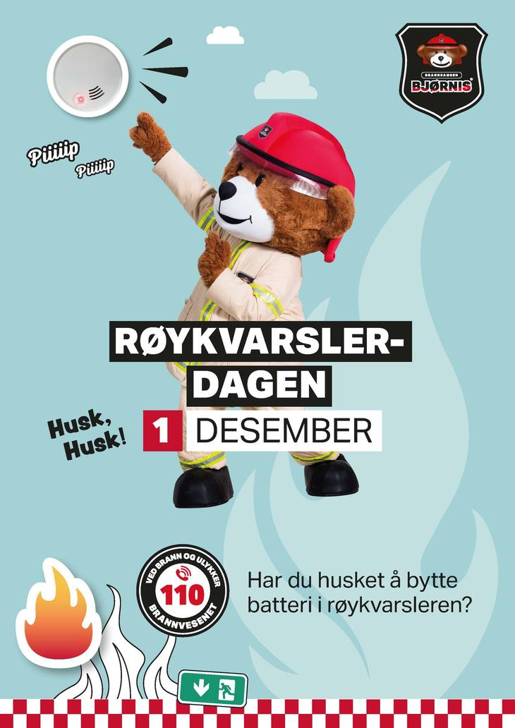 Plakat røykvarslerdagen