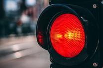 Rødt trafikklys