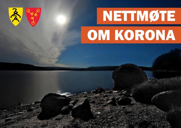 plakat nettmøte korona